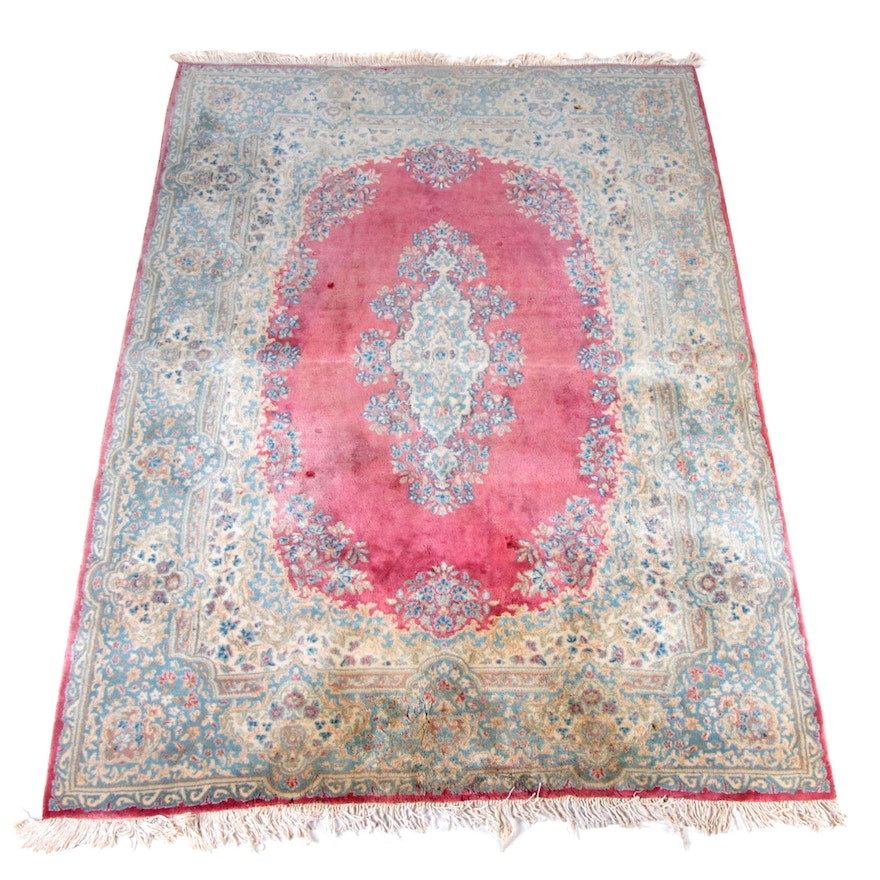 Hand Knotted Persian Kerman Area Rug