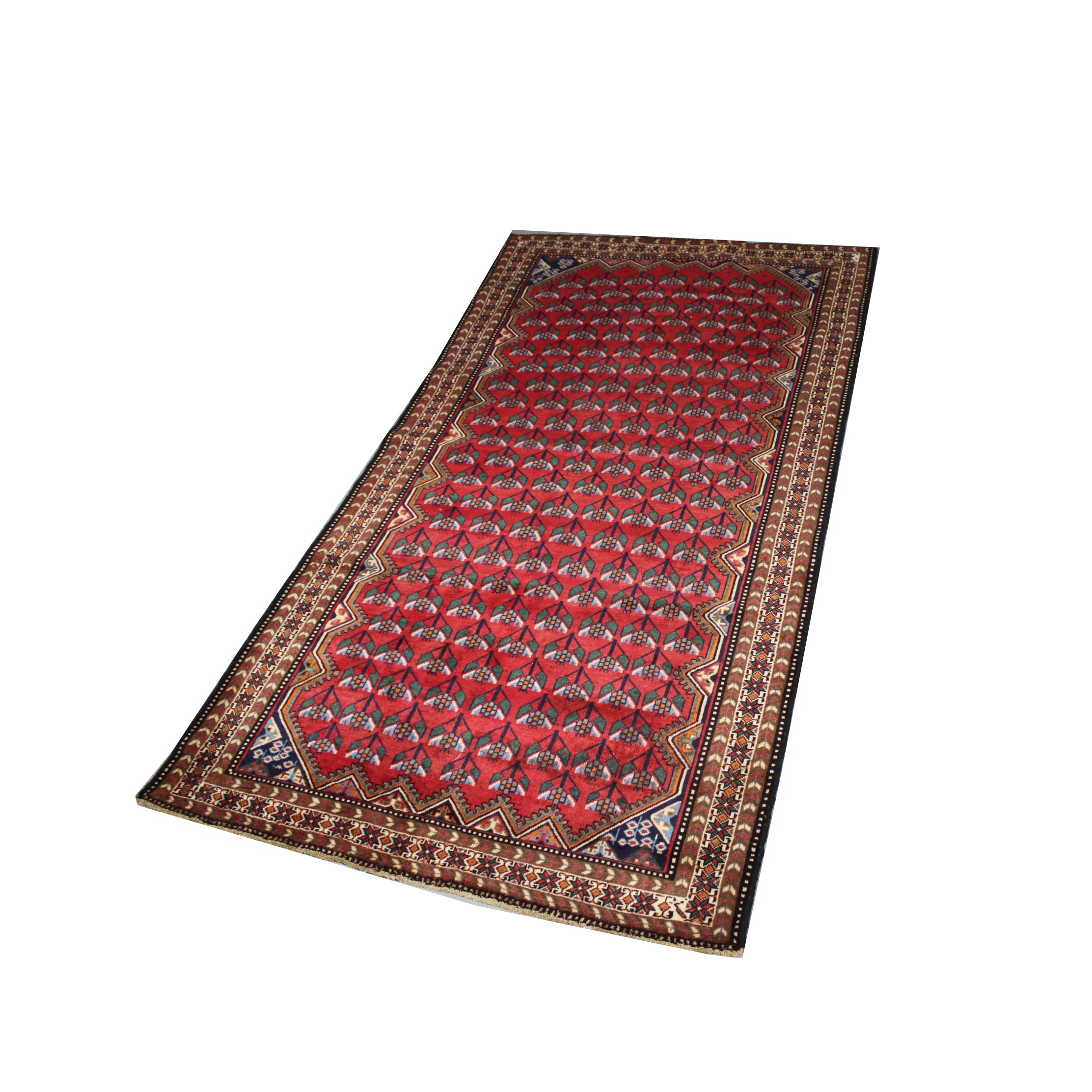 Hand-Knotted Persian Caucasian Wool Area Rug