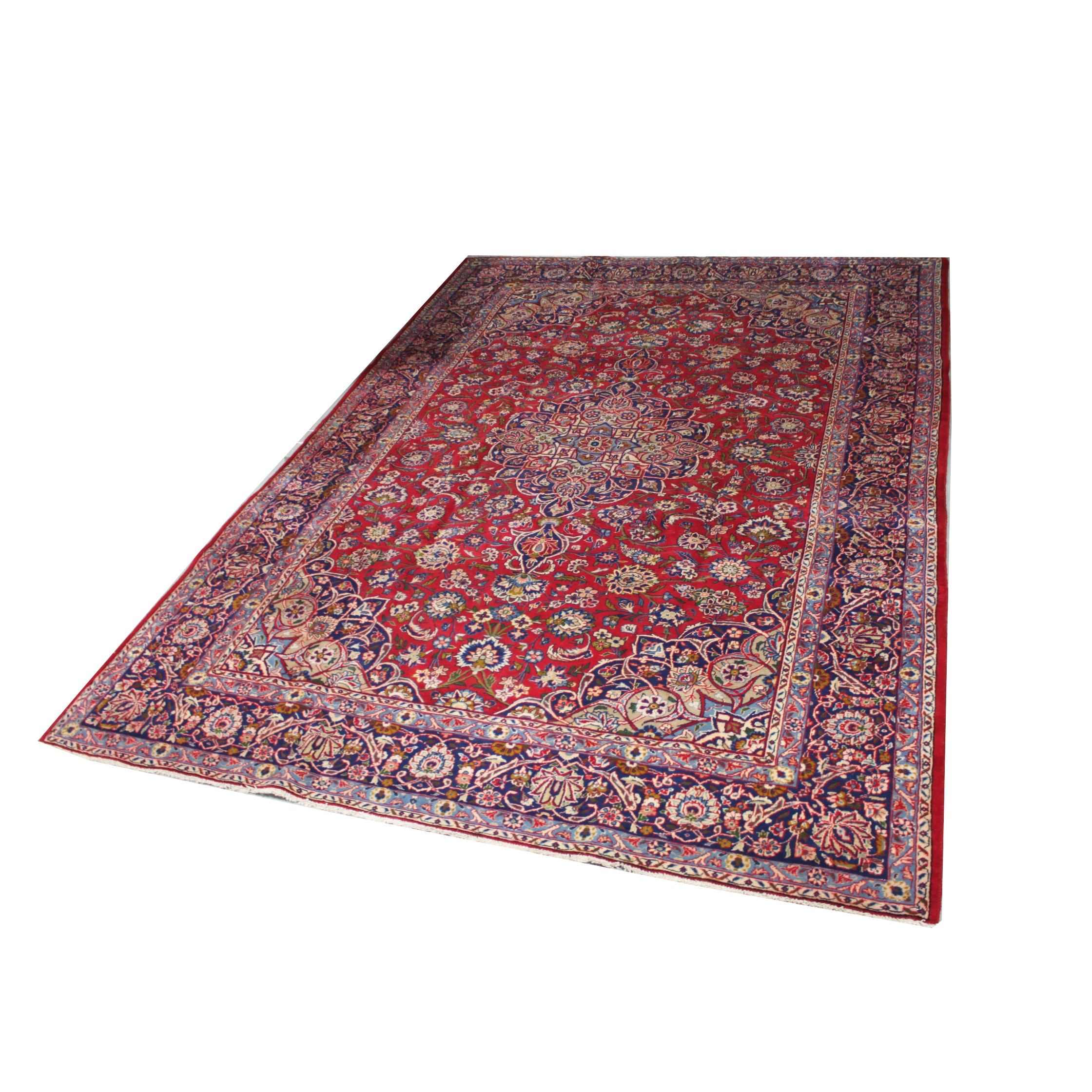 Hand Knotted Persian Kashan  Area Rug