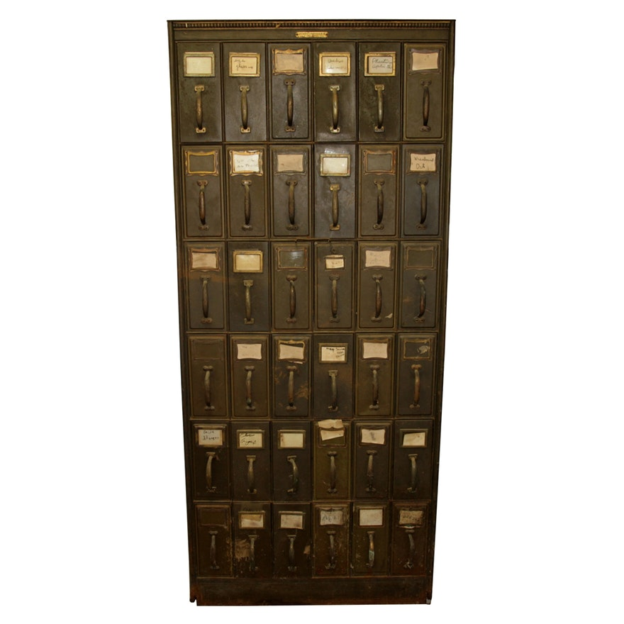 Vintage Filing Cabinet by Art Metal Construction Co. - Vintage Filing Cabinet By Art Metal Construction Co. : EBTH
