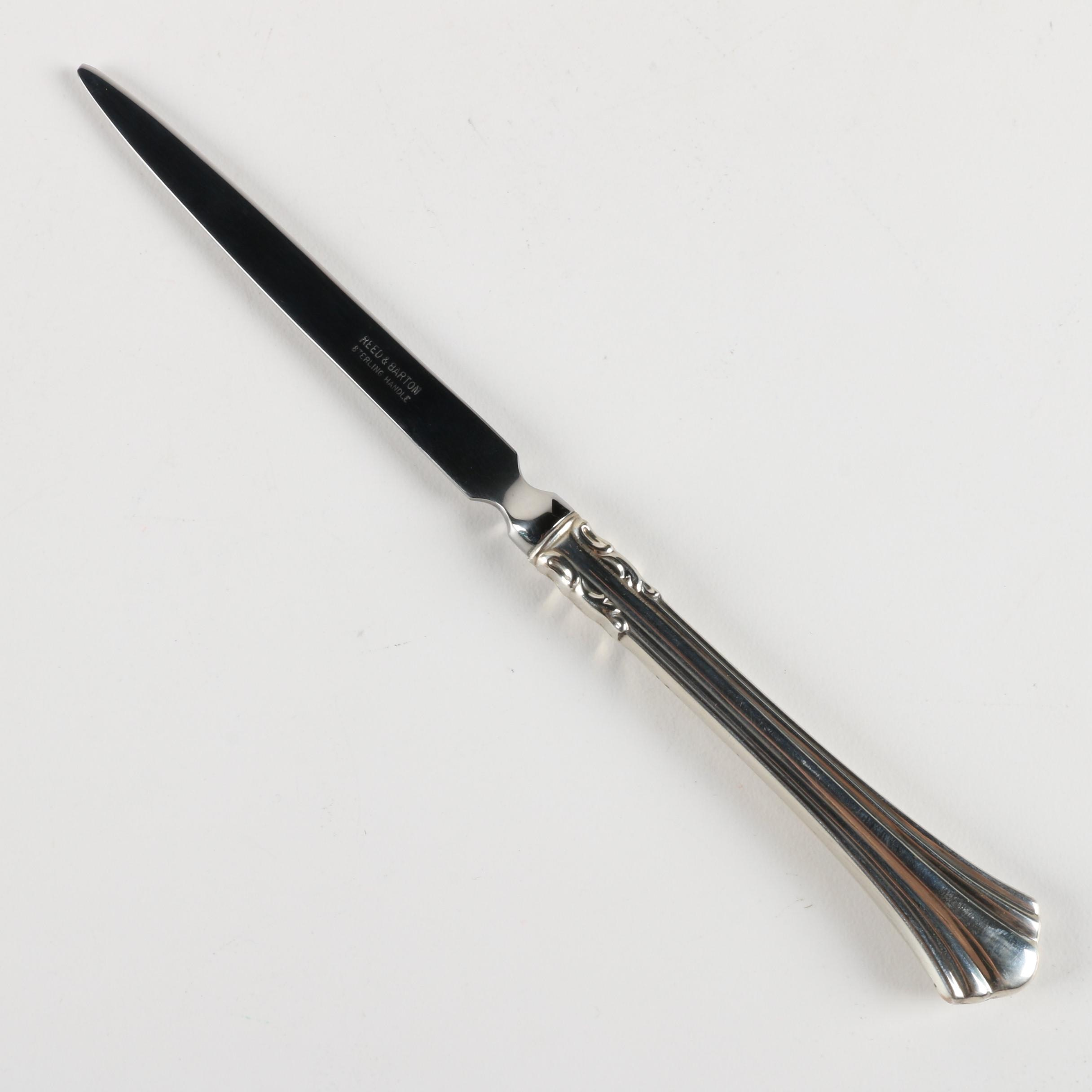 "Reed & Barton ""Eighteenth Century"" Sterling Handled Letter Opener"