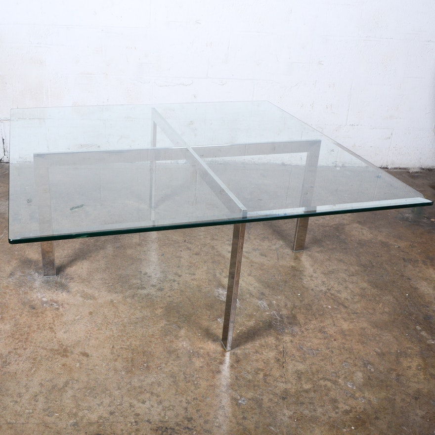 Modern Style Coffee Table After Ludwig Mies Van Der Rohe Ebth