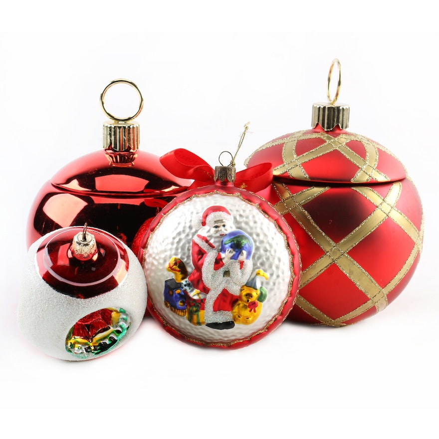 glass and ceramic christmas ornaments including waterford and teleflora - Ceramic Christmas Ornaments
