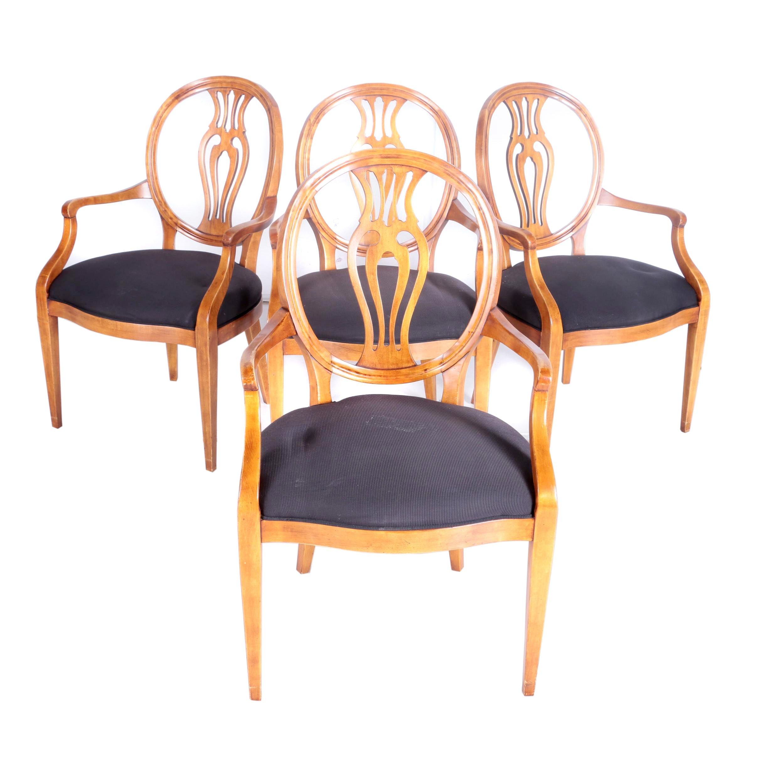 birch dining chairs four hepplewhite style birch dining chairs ebth 1660