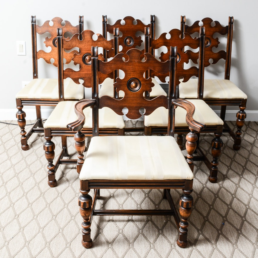 Jacobean Revival Style Dining Chairs