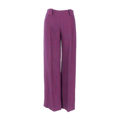 Women's Vintage Blue and Red Wool Pants