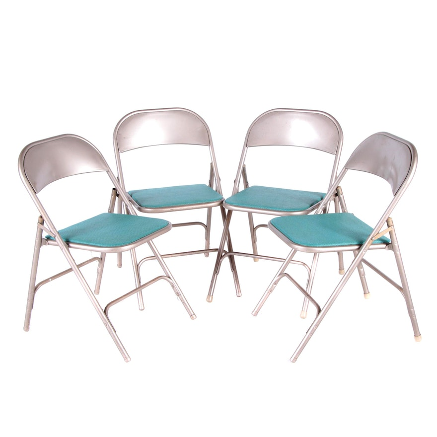 Amazing Vintage Metal Folding Chairs And Table By Samsonite Cjindustries Chair Design For Home Cjindustriesco