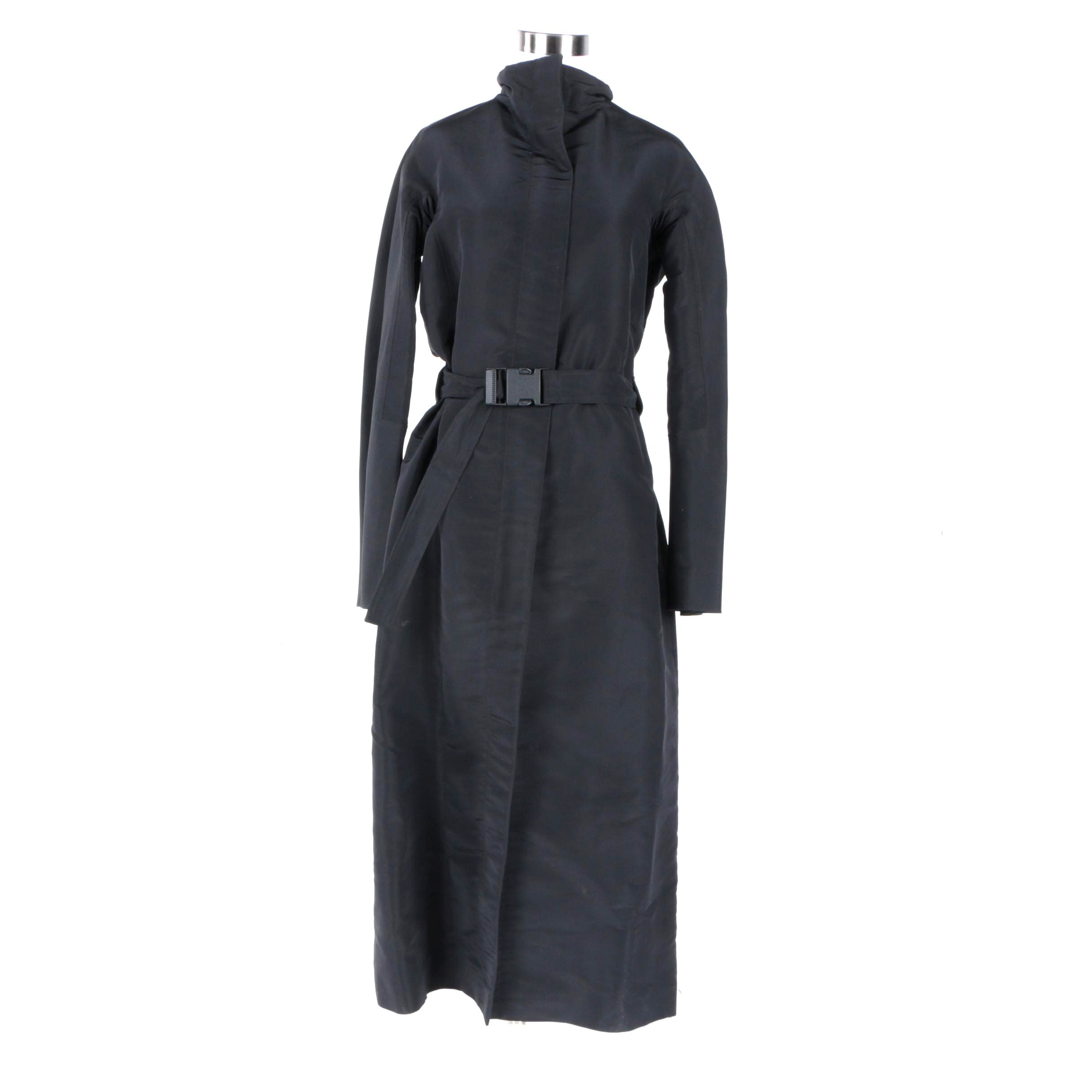 Women's Jil Sander Black Silk Coat
