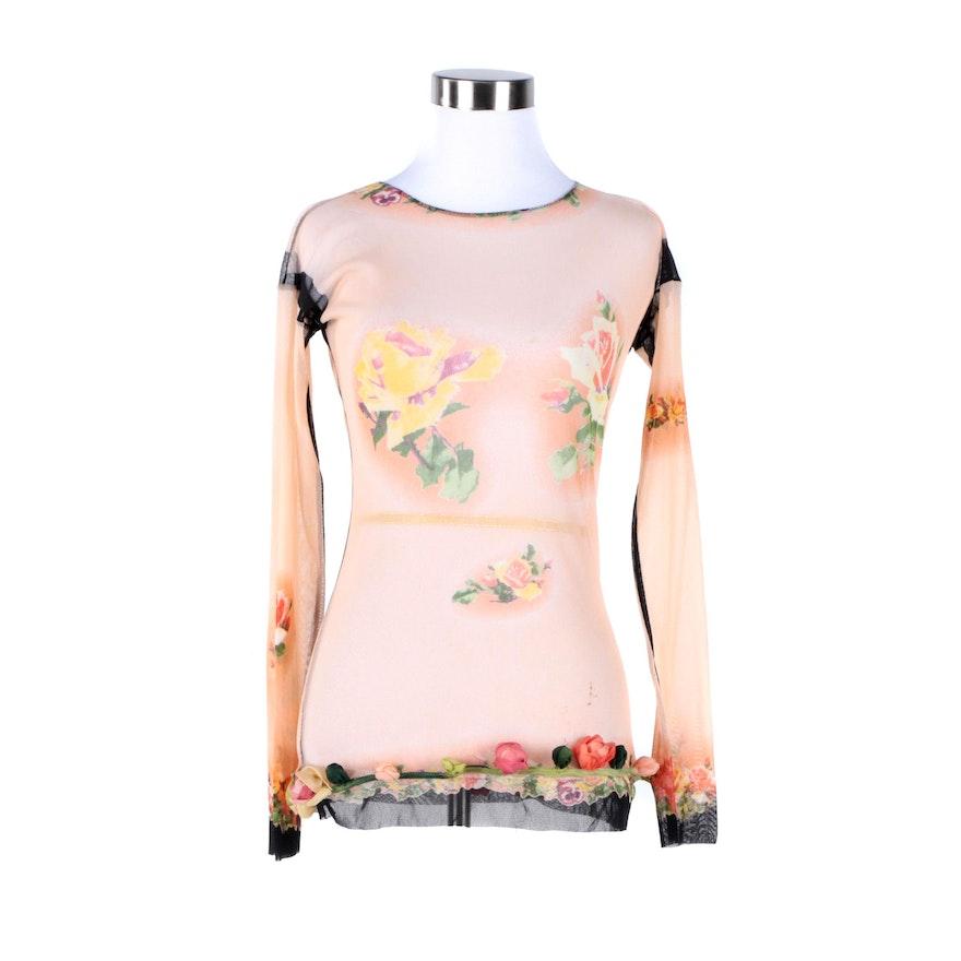 Women's Jean Paul Gaultier Maille Femme Sheer Shirt