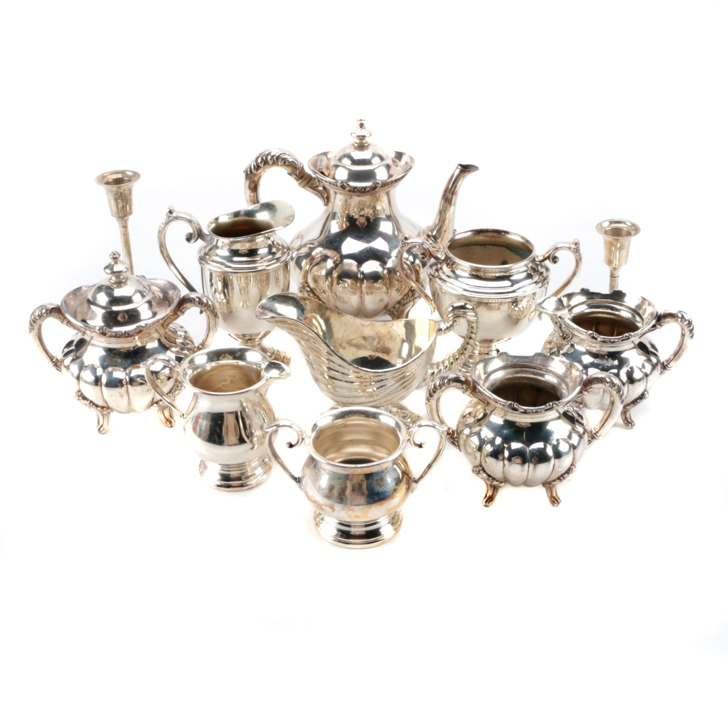 Generous Assortment of Silver Plate Serveware