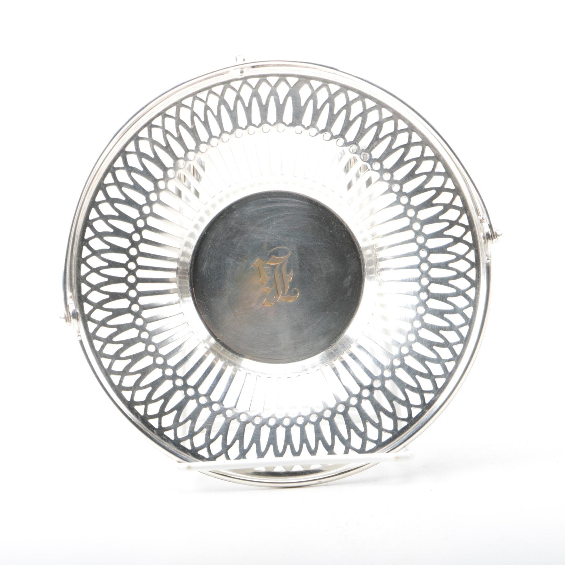 E.G. Webster & Son Silver Plate Pierced Basket