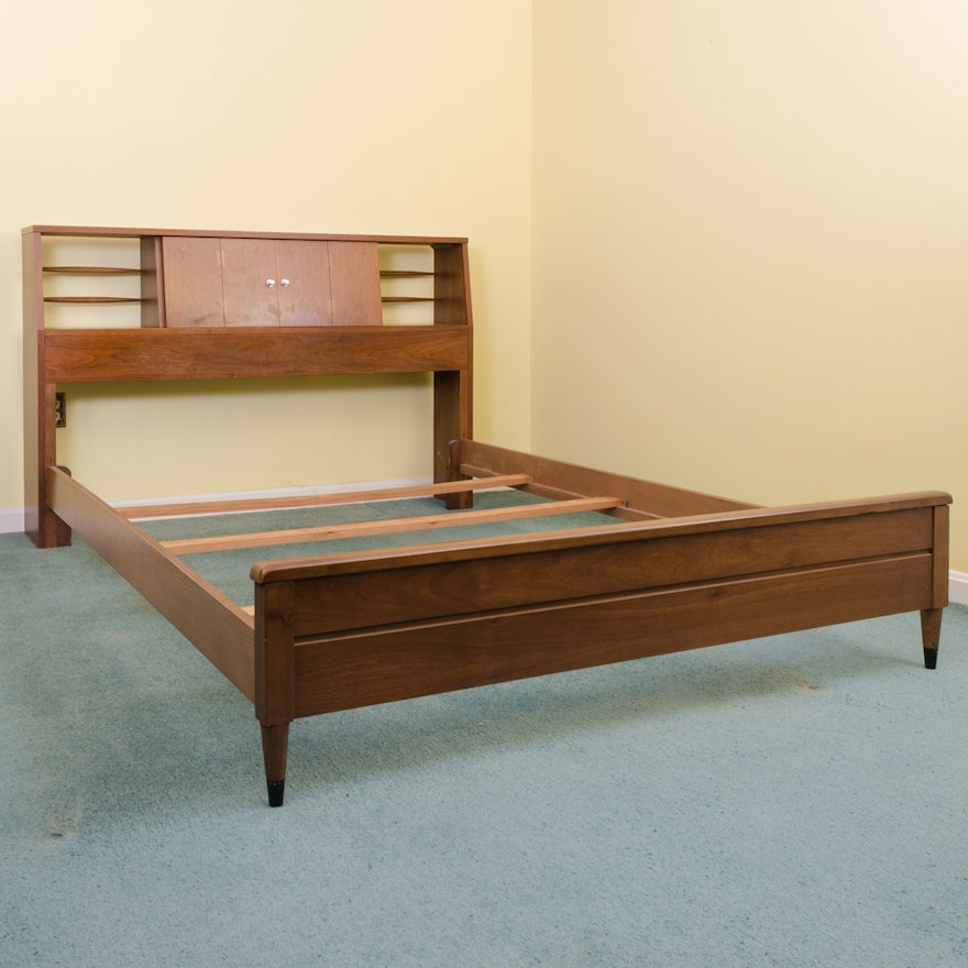 mid century modern full size bed frame with storage by lane - Mid Century Modern Picture Frames