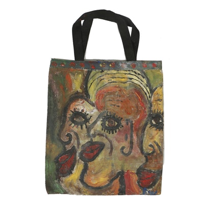 Robert Wright Gouache Painting on Canvas Tote Bag