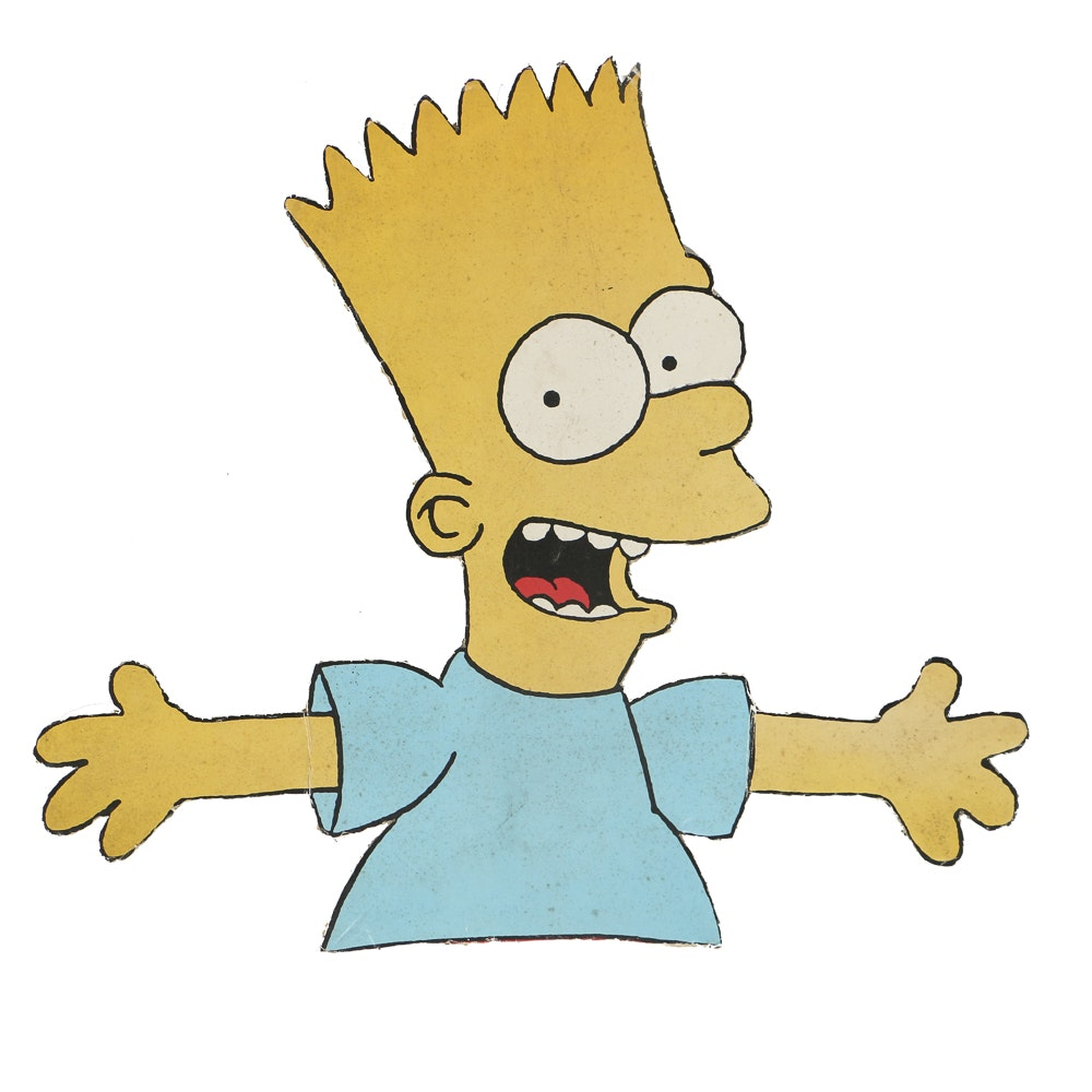 Vintage Bart Simpson Offset Lithograph on Foam Core