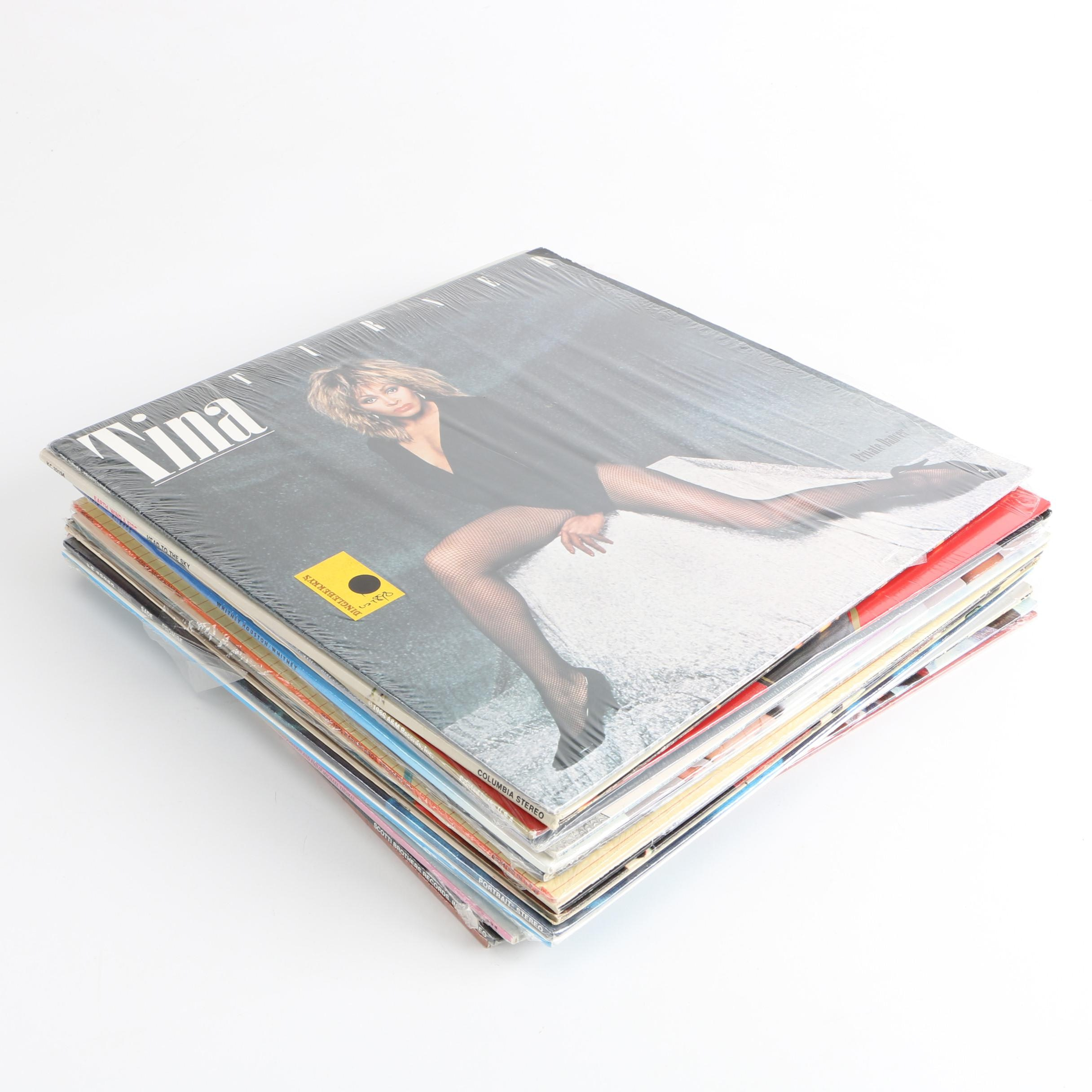 Tina Turner, Whitney Houston, Survivor and Other R&B and Rock LPs