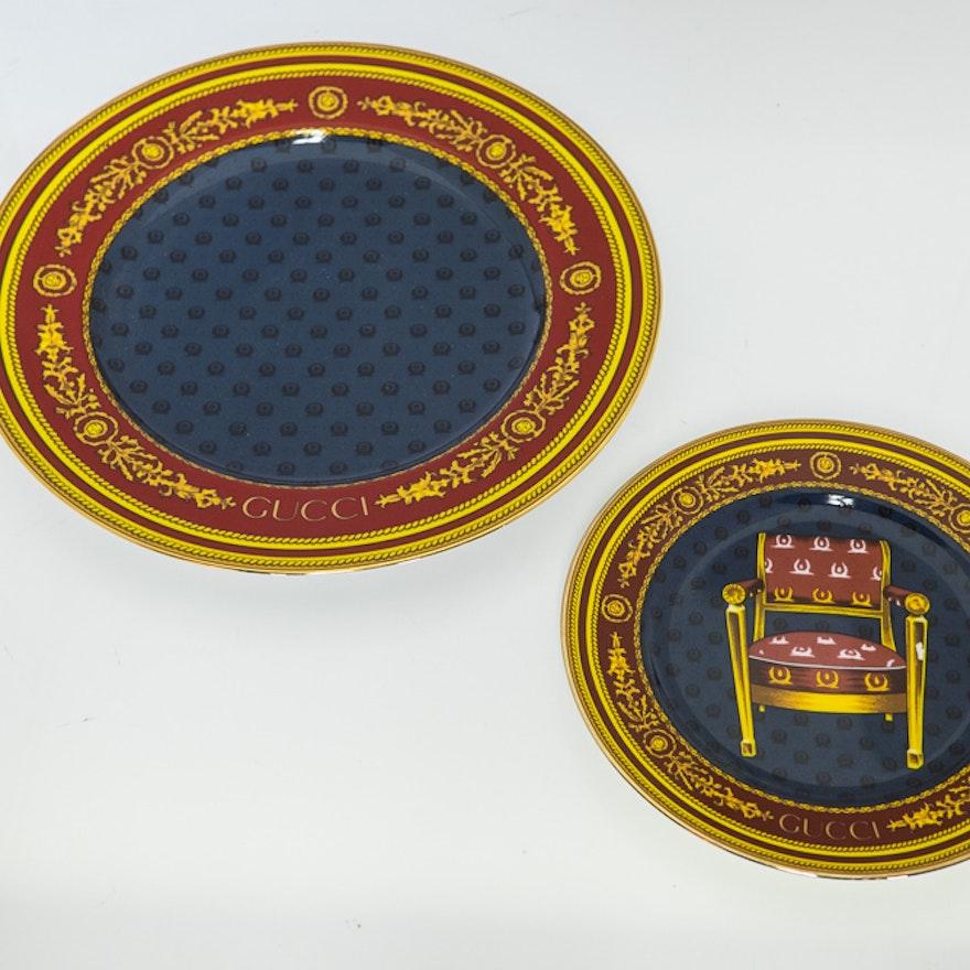 Pair Gucci Porcelain Plates