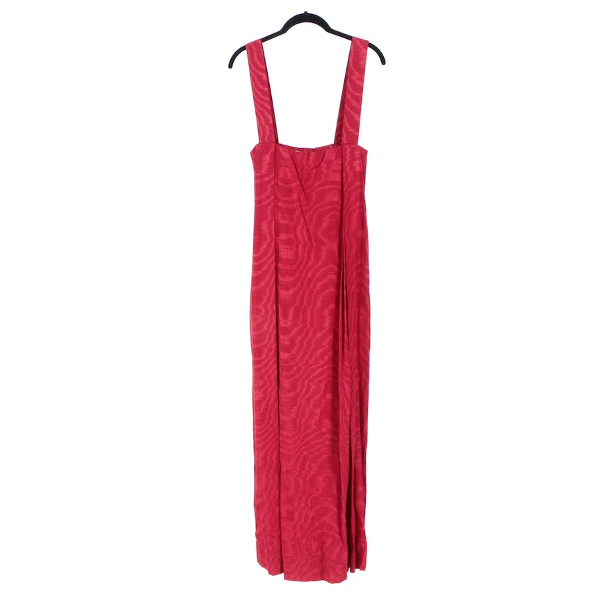 Vintage Cardinali Red Moire Jumper Gown