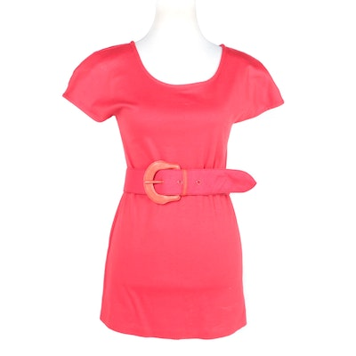 Claude Montana Paris Red Cotton Dress