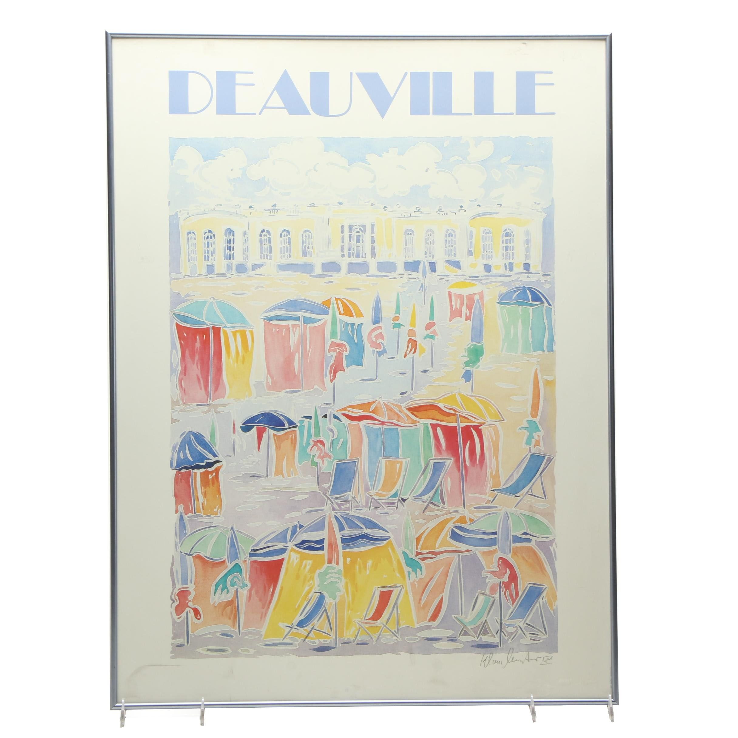 Offset Lithograph Deauville Poster
