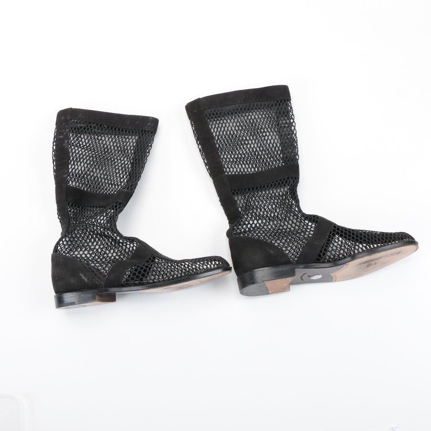 Walter Steiger Suede and Mesh Boots