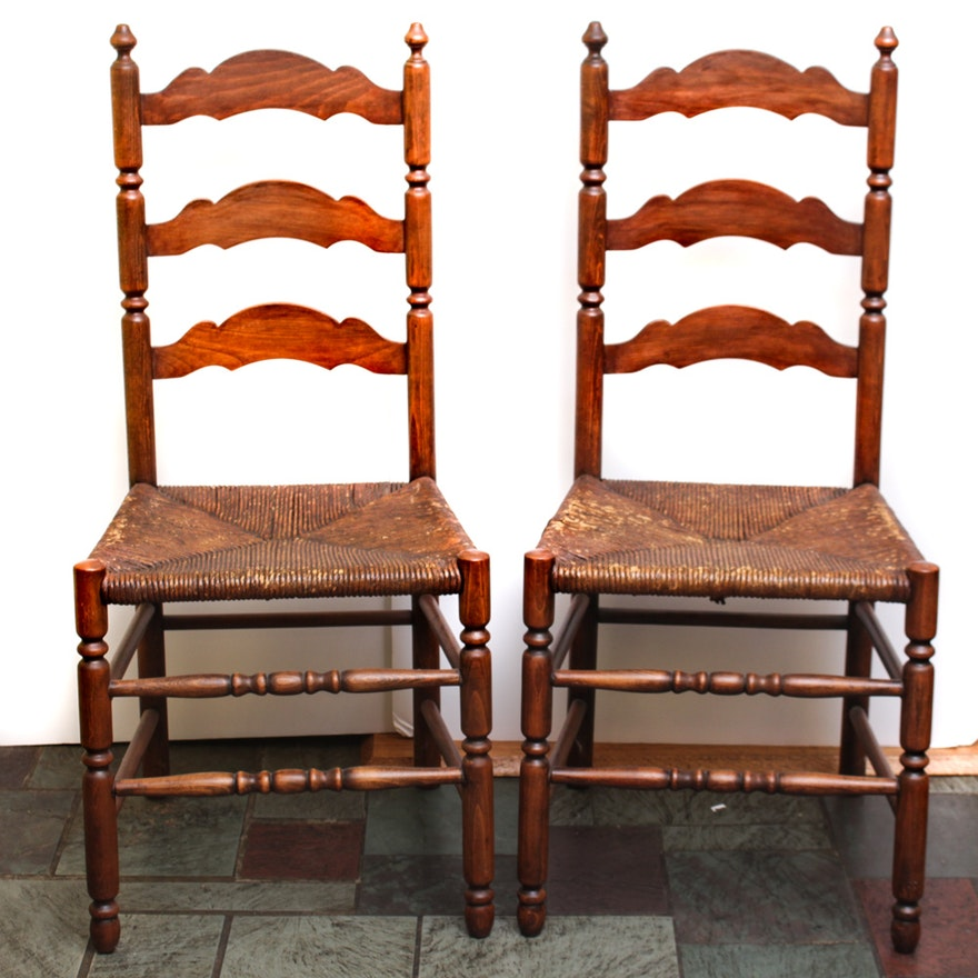 Pair Of Vintage Cherry Chairs By Tell City Chair Company