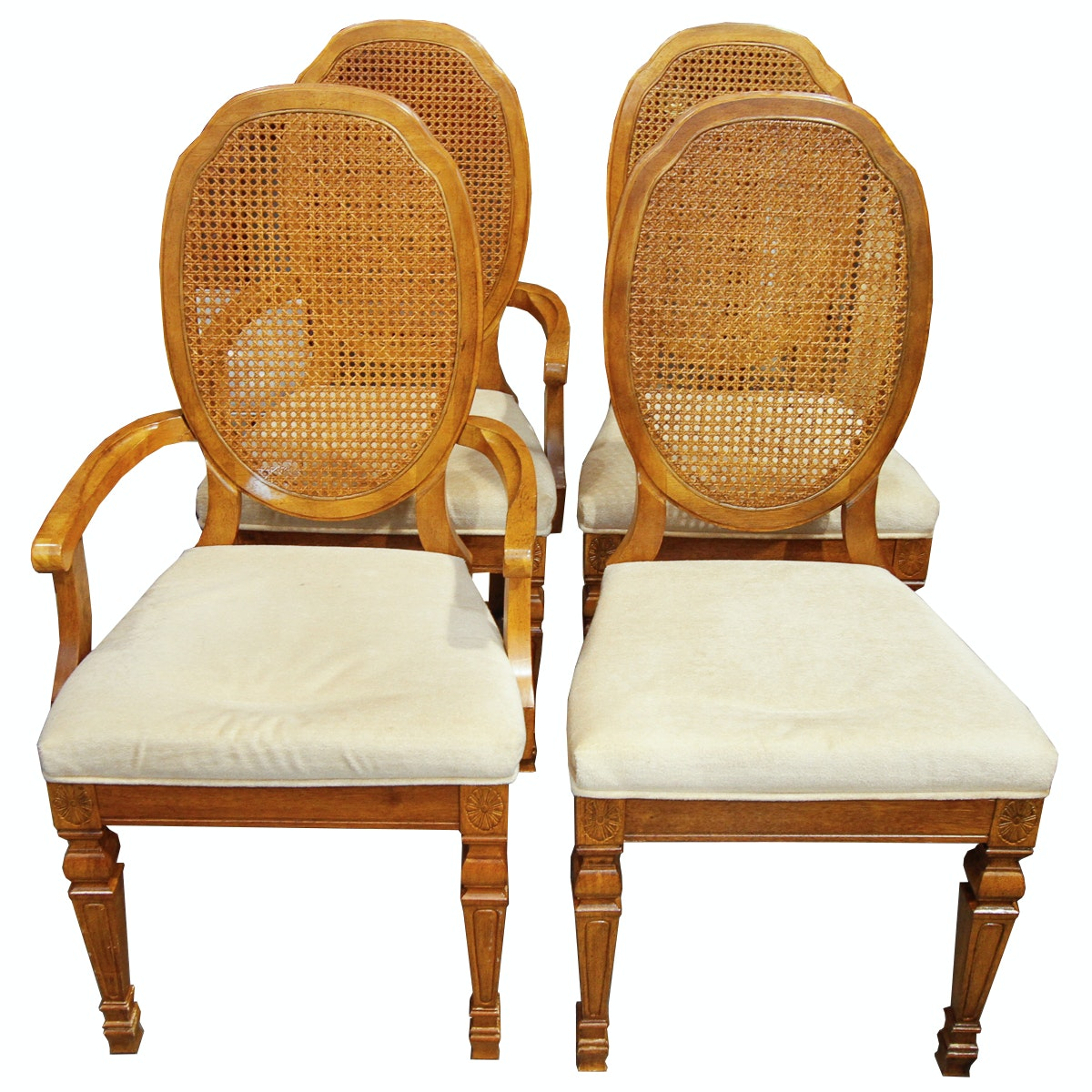 Vintage louis xvi style cane back dining chairs by bernhardt furniture ebth - Reasons choosing vintage style furniture ...