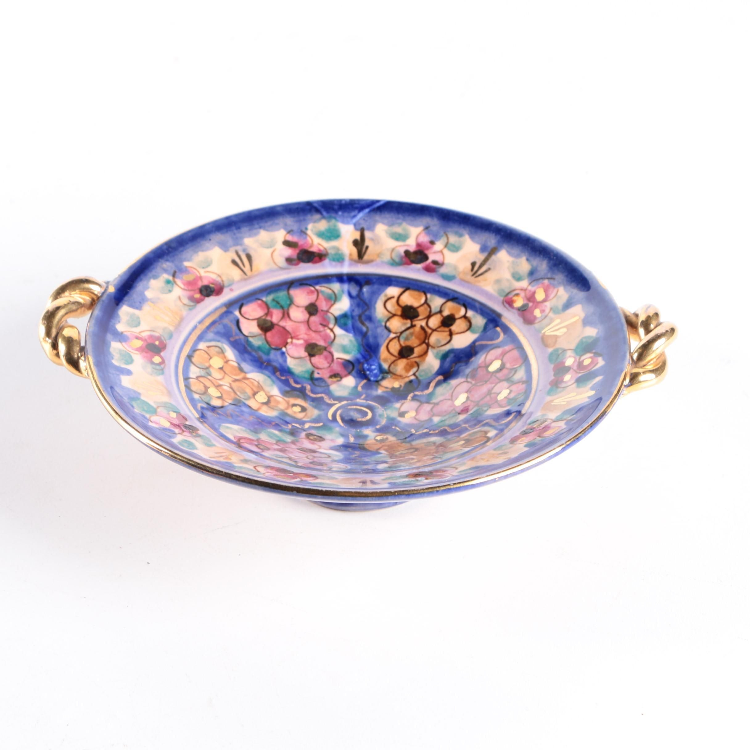 Edam Antiqua Hand Painted Footed Bowl
