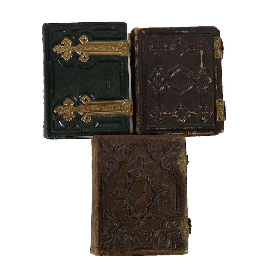 Collection Of Late 19th Century Leather Bound Carte De Visite Photo Albums EBTH