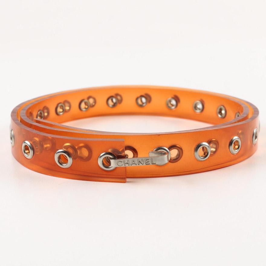 Chanel Orange Plastic Belt
