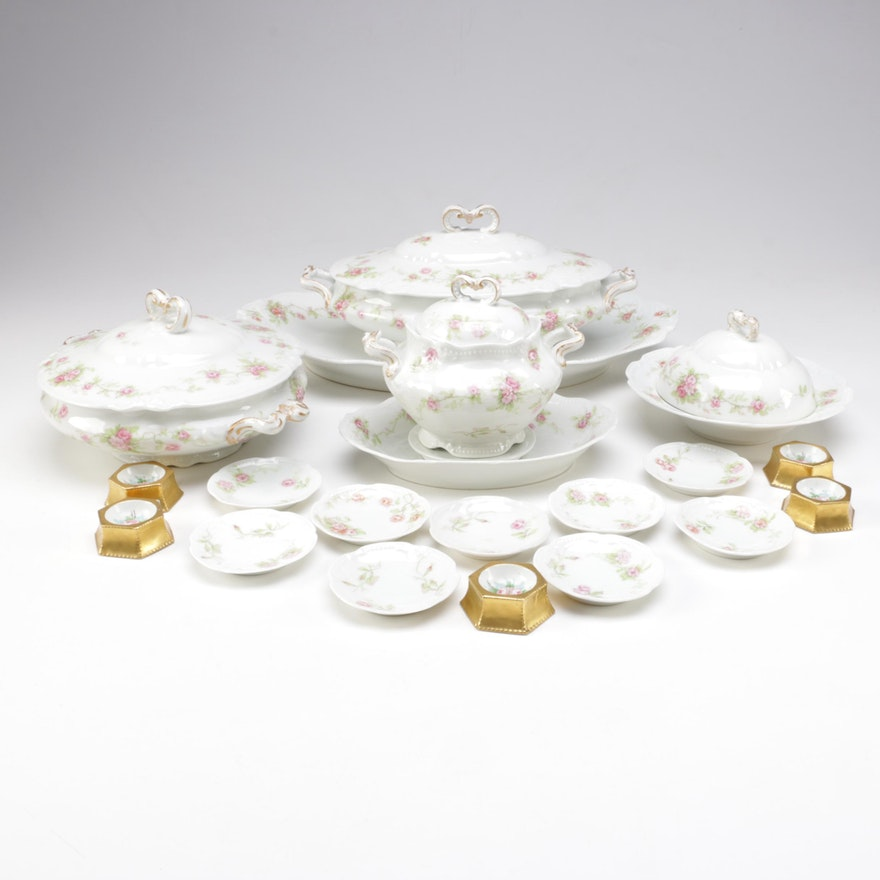 Antique Limoges Coronet Porcelain Serveware : EBTH