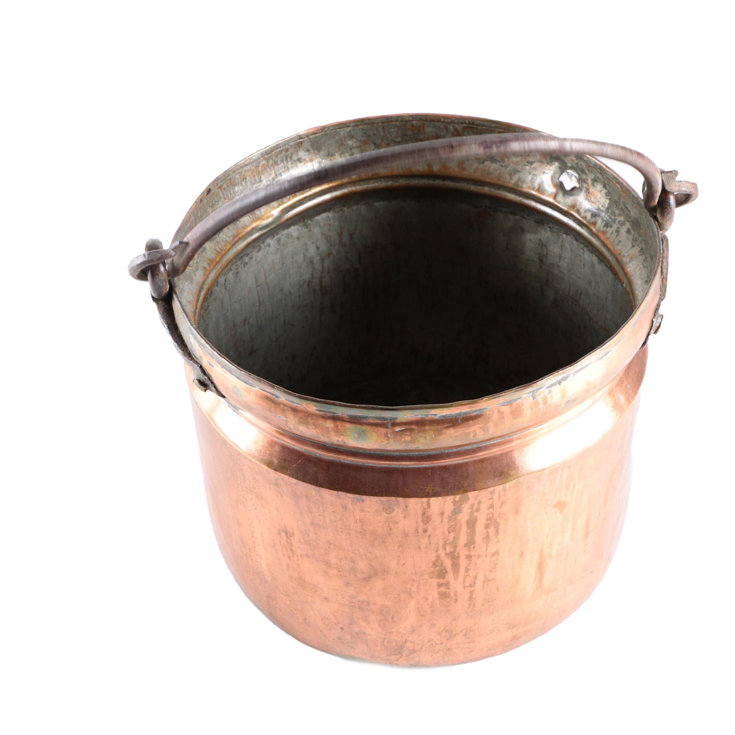 Turkish Hammered Copper Pail