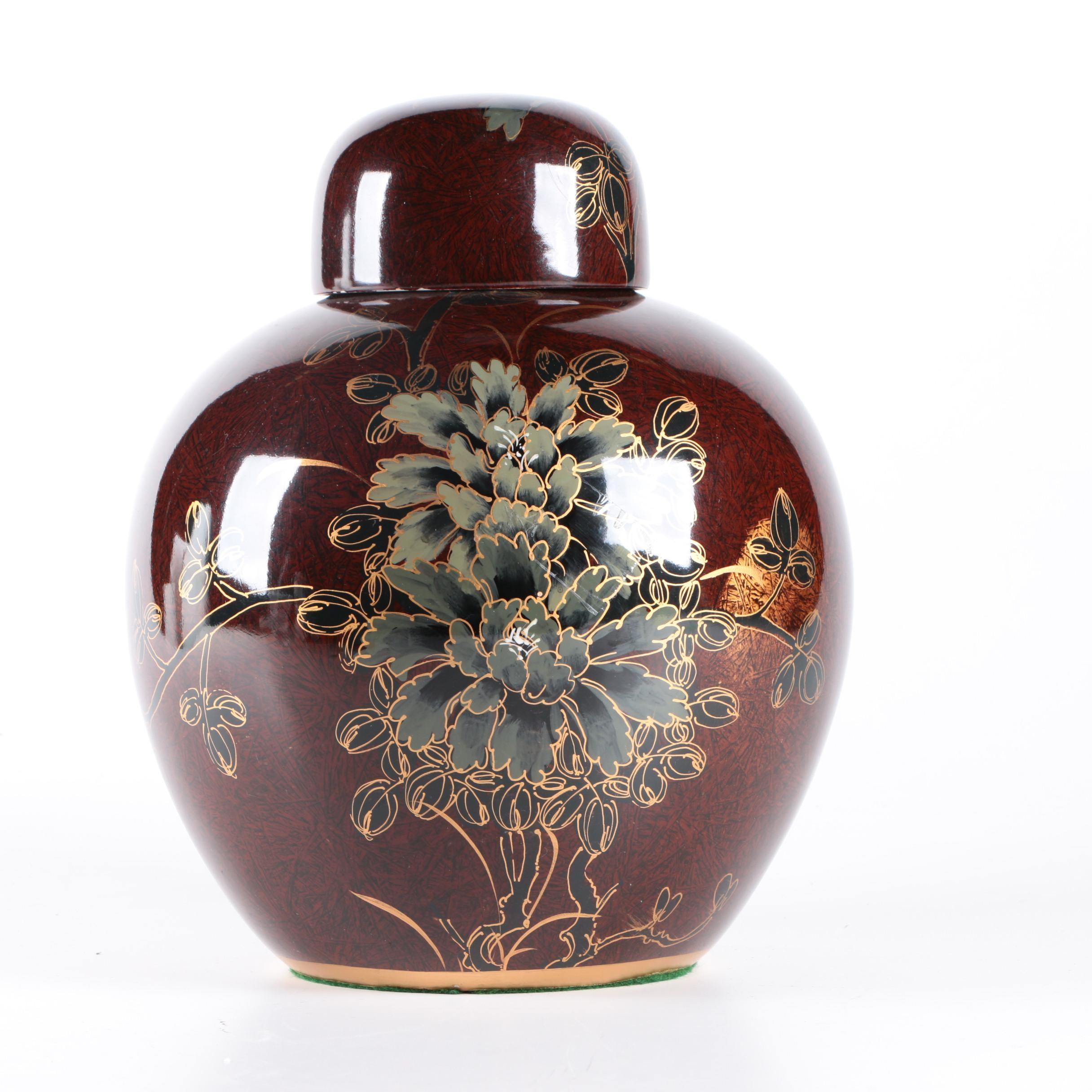 Asian Ceramic Ginger Jar