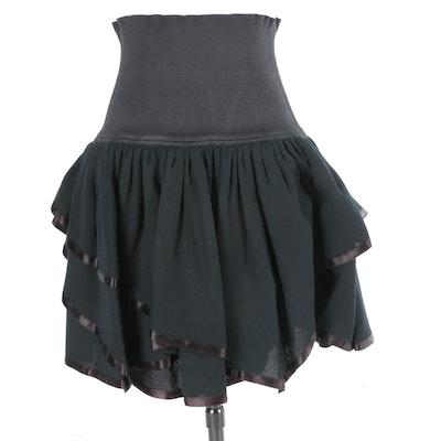 Vintage Cardinali Black Skirt
