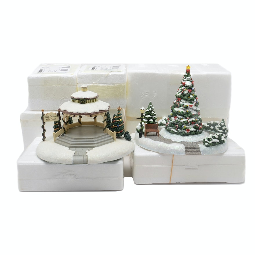 Hawthorne Village Thomas Kinkade Christmas Village Houses And Accessories