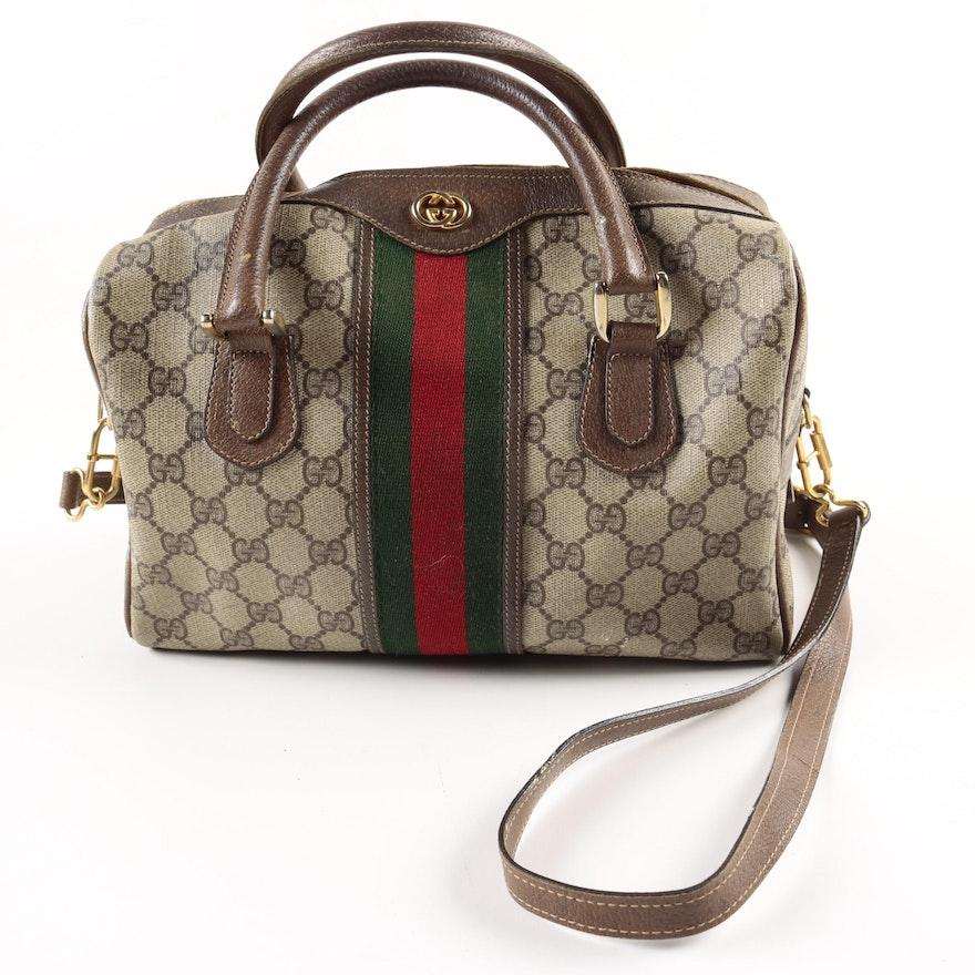 5329666cce4 Vintage Gucci Supreme Canvas Purse   EBTH