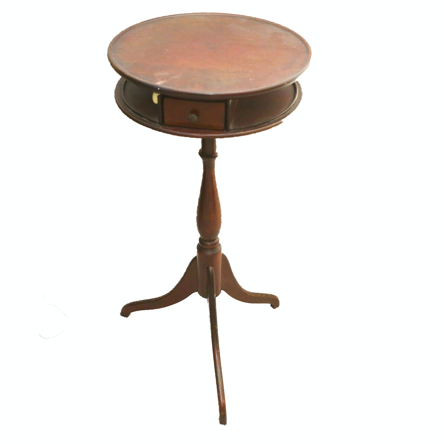 Vintage Federal Style Pedestal Side Table