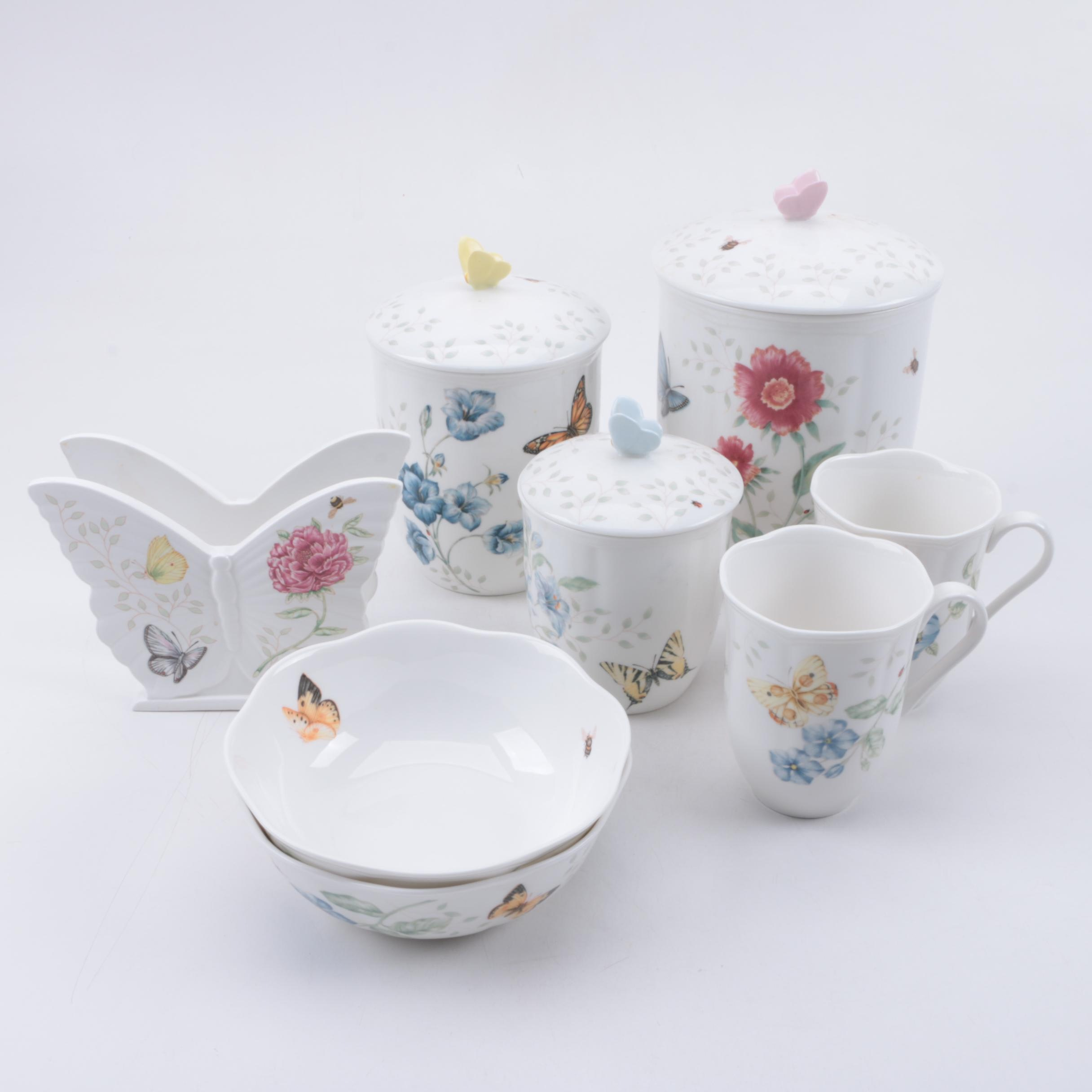 Lenox \ Butterfly Meadow\  Porcelain Tableware by Louise ... & Lenox \