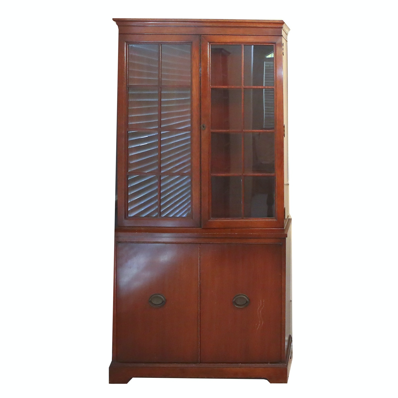 Vintage Traditional Style Mahogany China Cabinet