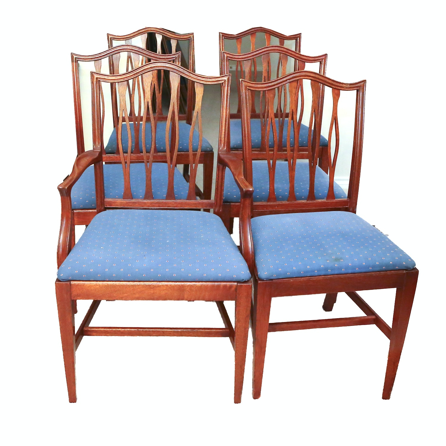 Set of Sheraton Style Dining Chairs