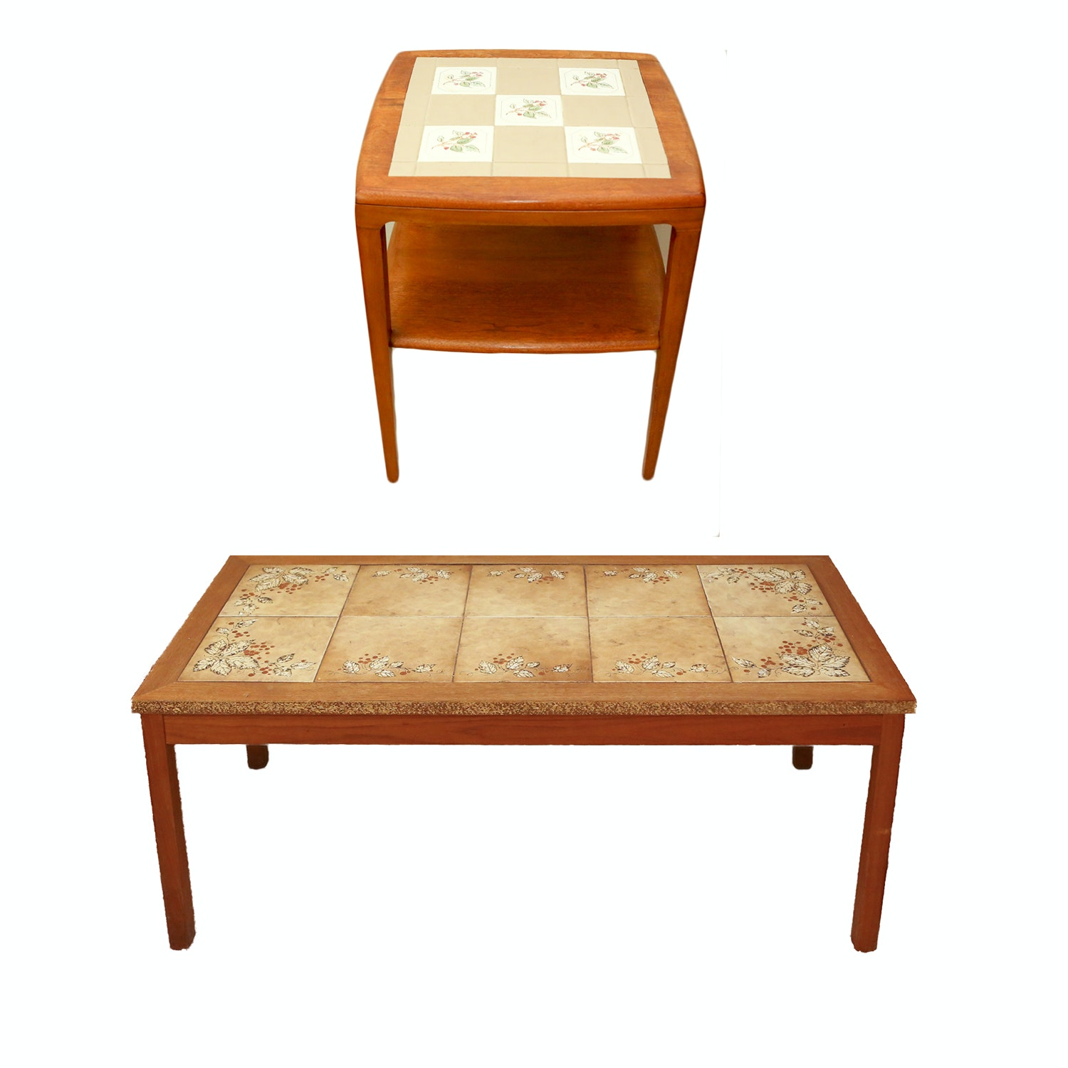 Tile Top Coffee Table and Accent Table