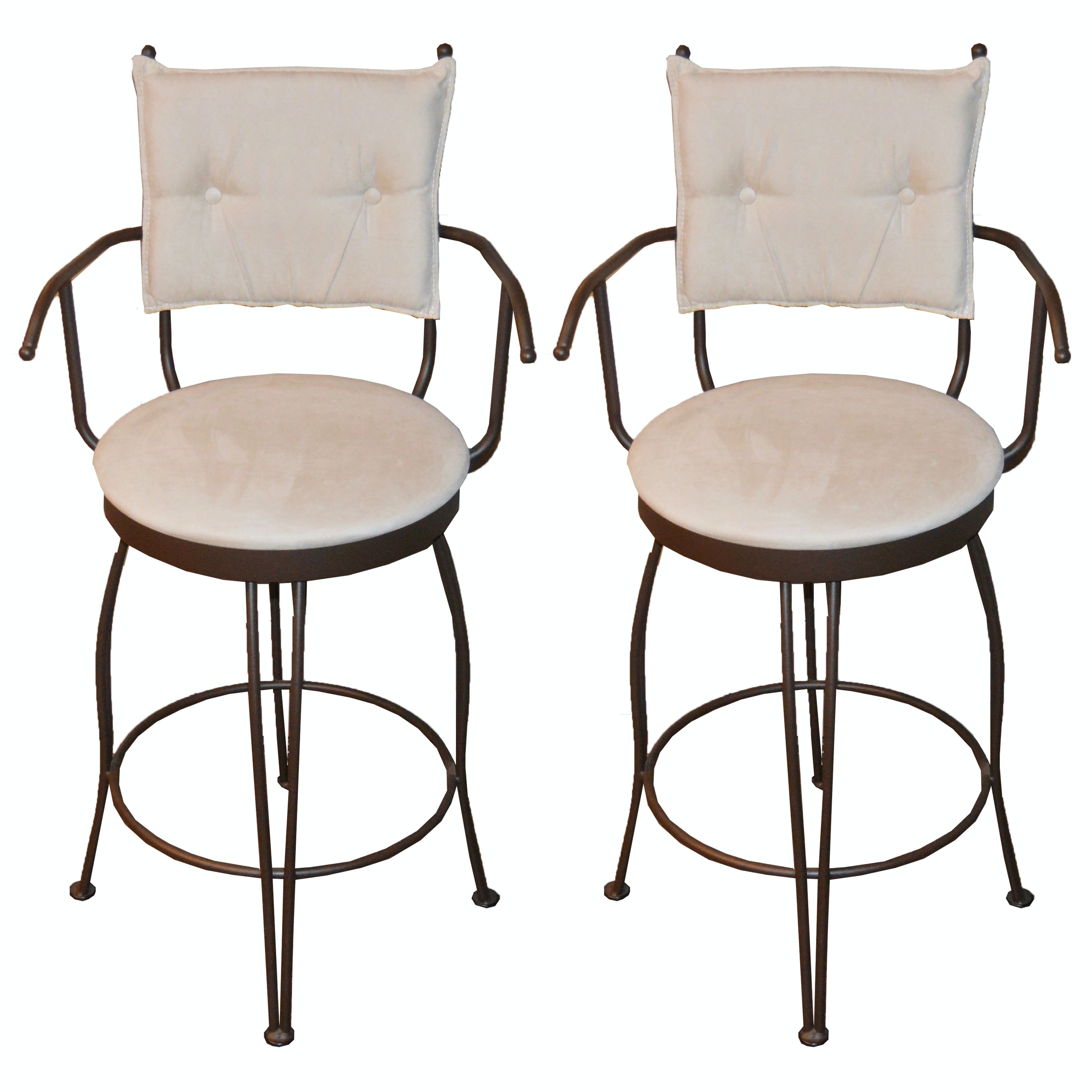 Metal Bar Stool Chairs with Padded Seating