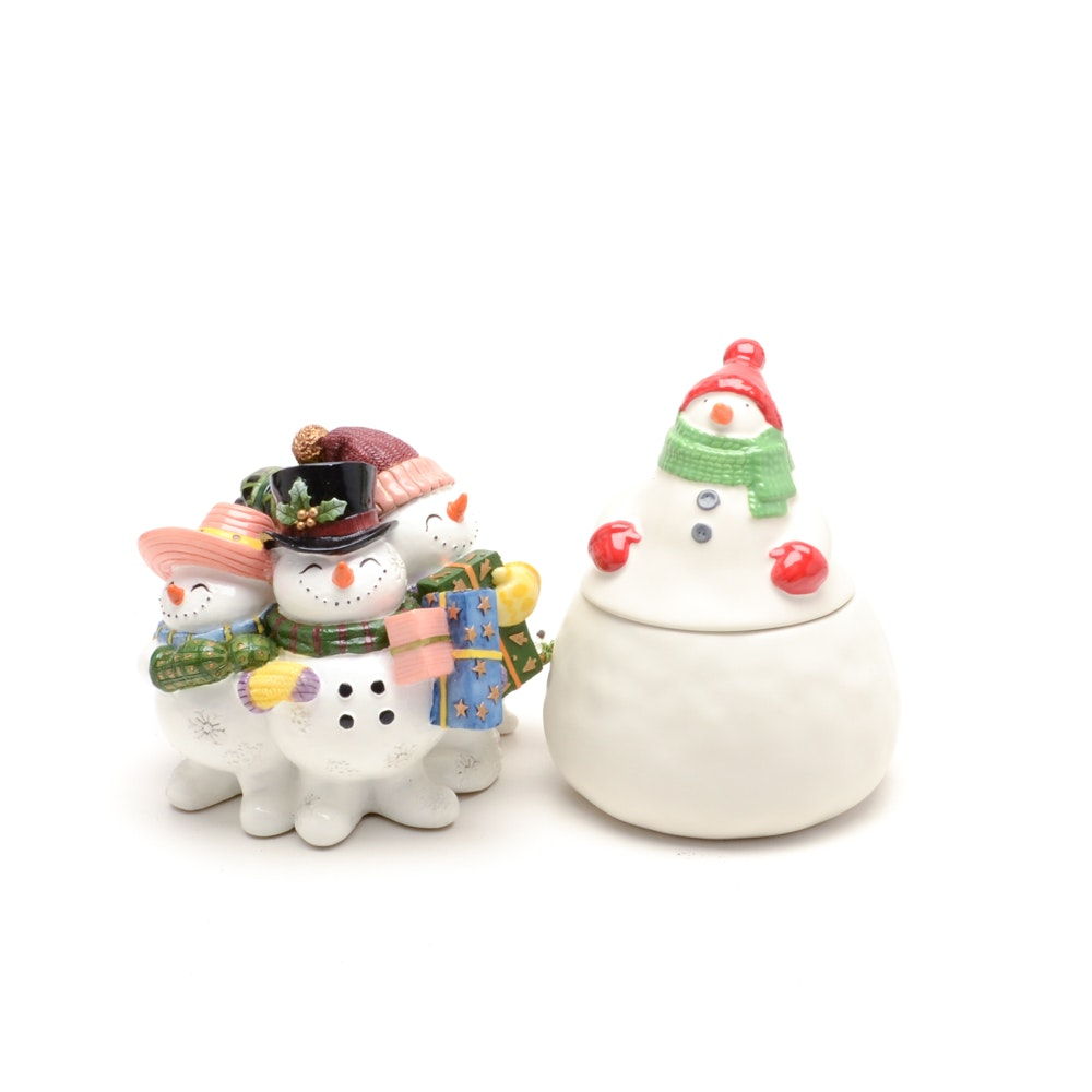 Mixed Group Of Snowmen Decorations Ebth