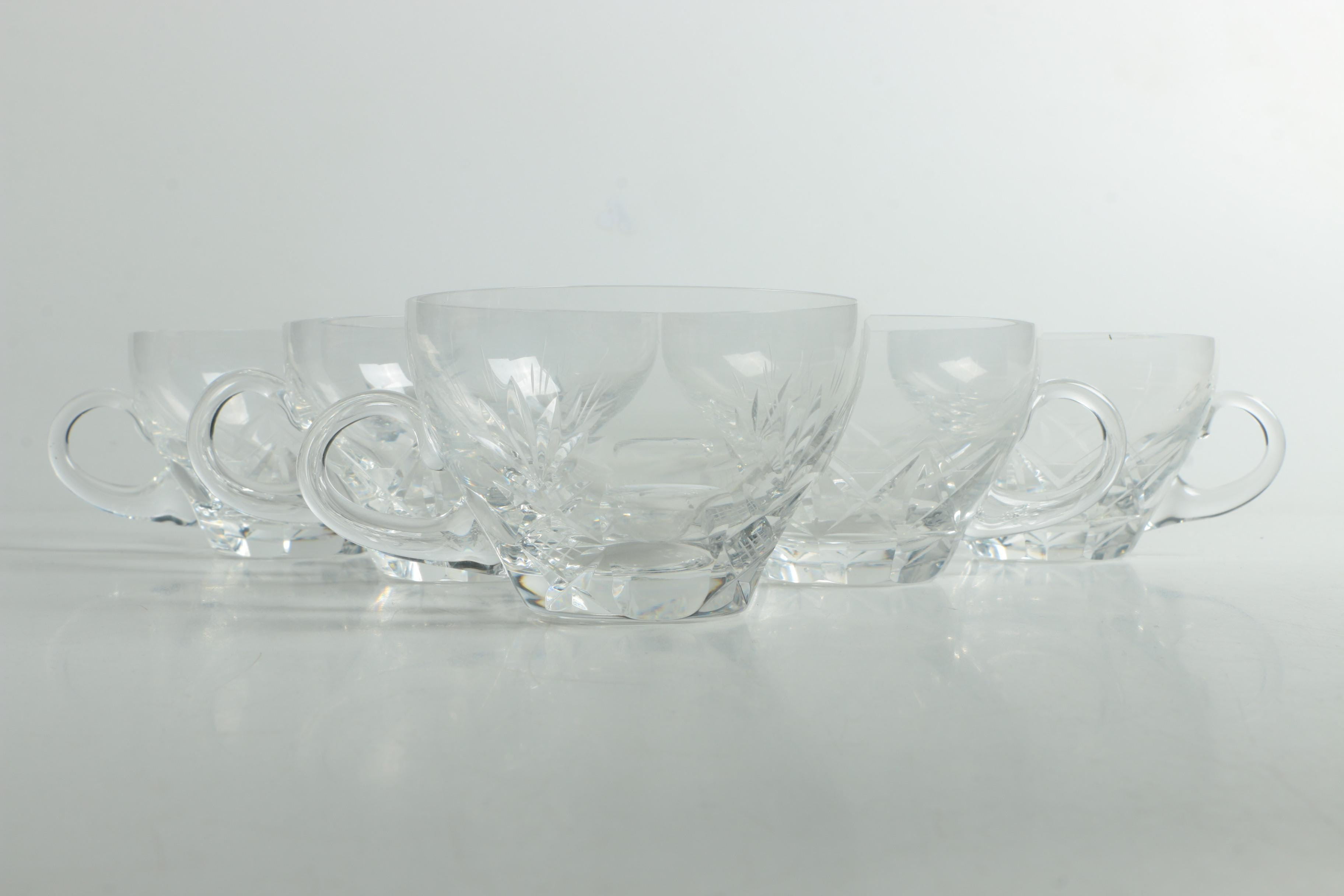 Vintage Cut Glass Punch Cups