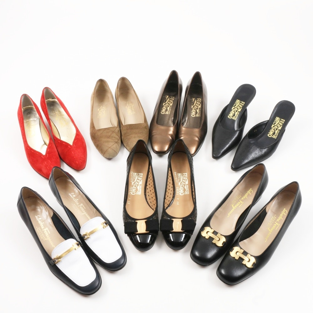 Women's Salvatore Ferragamo Italian Made Leather Shoes