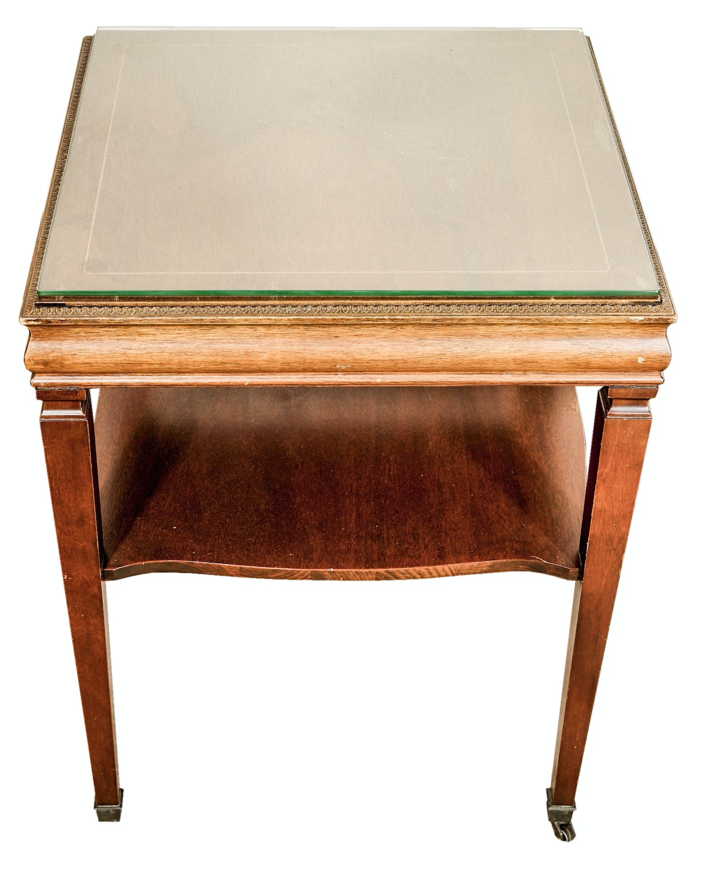 Vintage Neoclassical Style Coffee Table And Side Table Ebth