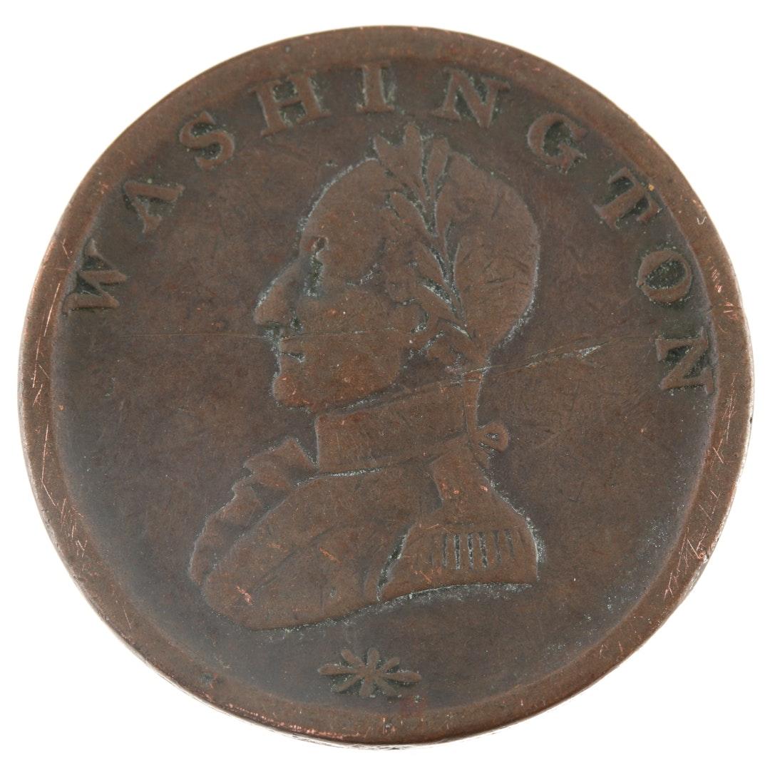 Circa 1783 Undated Washington Double Headed Copper Cent