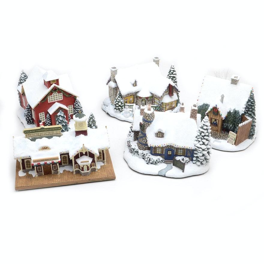 Hawthorne Village Thomas Kinkade Christmas Village Houses : EBTH