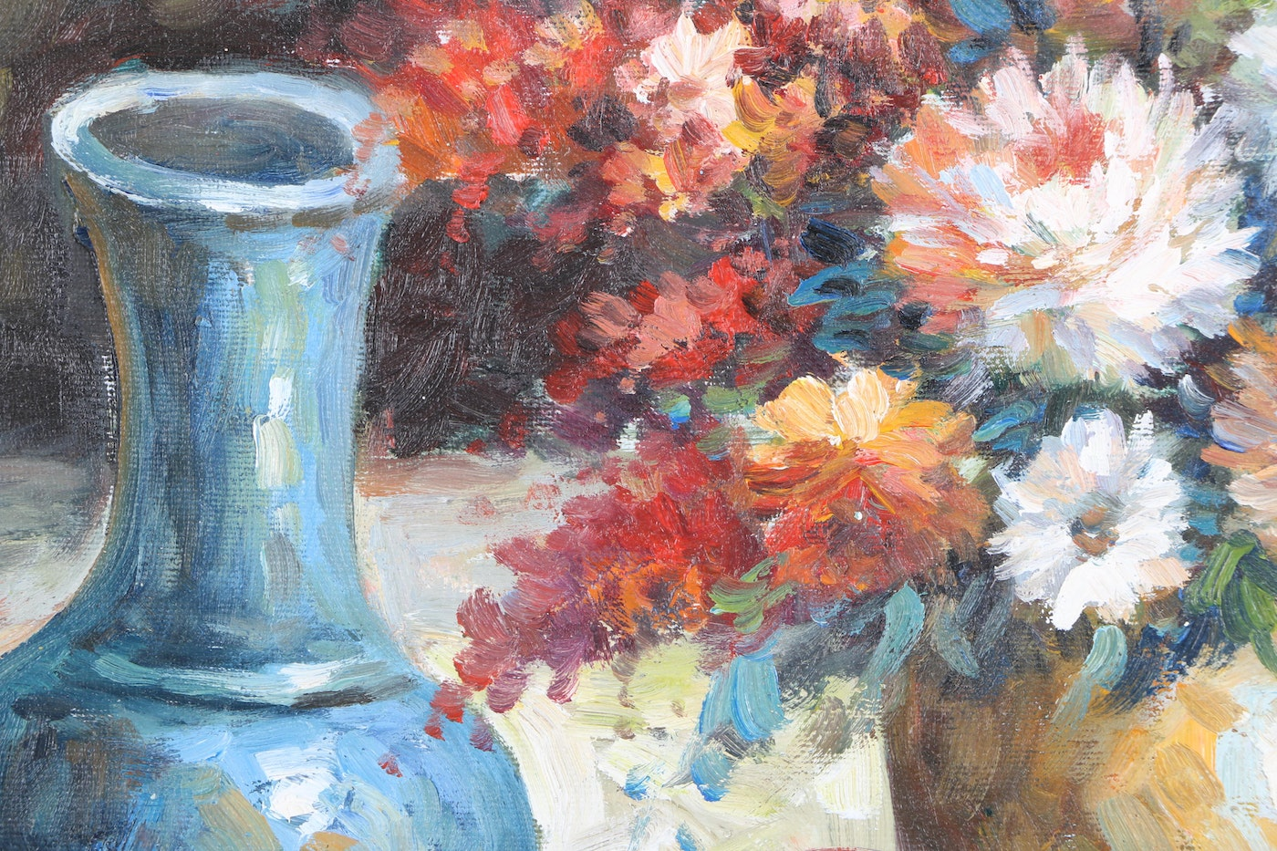 Adams Auto Sales >> W. Adams Oil Painting on Canvas of Still Life | EBTH