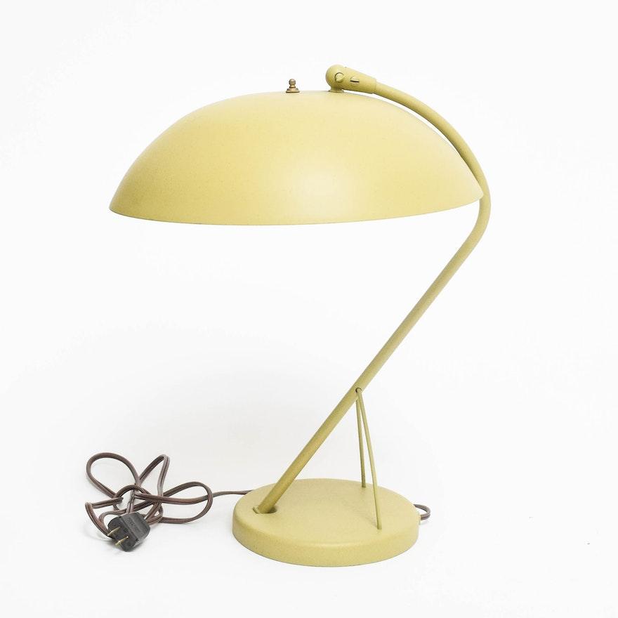 Vintage Kurt Versen Enameled Metal Table Lamp