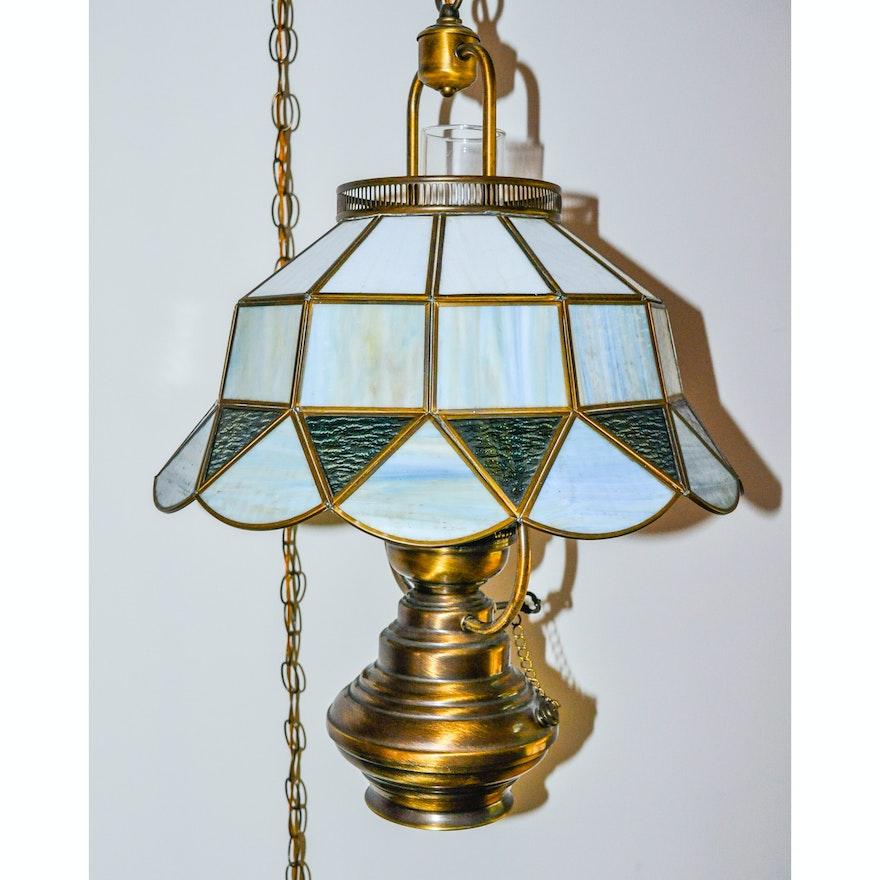 Reion Brass Oil Lamp Hanging Light Fixture